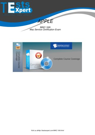 MAC-16A Latest Certification