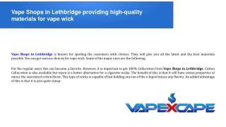 Vape Shops in Lethbridge