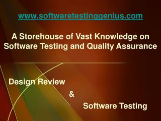 Software Testing Genius