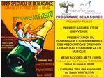 PROGRAMME DE LA SOIREE  PREMIERE PARTIE   VERRE D ACCUEIL ET DE BIENVENUE   PRESENTATION DU PARRAINAGE ET DES MEMBRES DE