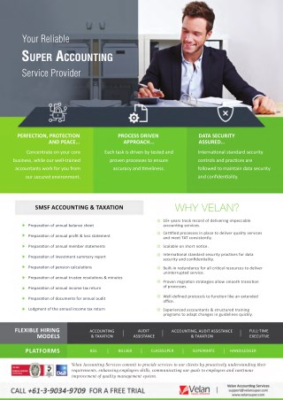 SMSF Outsourced Accounting Services - Velan super