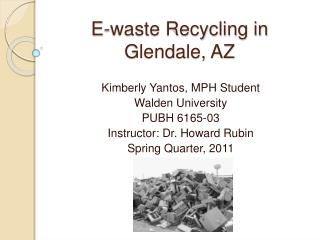 E-waste Recycling in Glendale, AZ