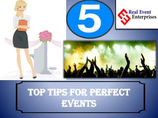 5 Top tips for perfect events