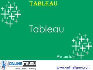 Tableau online training-onlineitguru