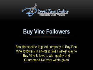 Buy Real Vine Followers