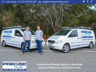 Professional Plumber Service in Bentleigh and all of Melbourne South East Areas.