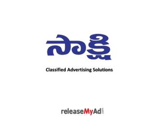Sakshi Newspaper Advertisement Booking Online