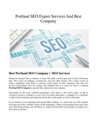search engine optimization Company Portland
