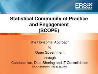 Statistical Community of Practice and Engagement SCOPE