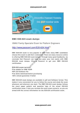 EMC E20-624 exam dumps
