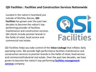 QSI Facilities - Facilities and Construction Services Nationwide