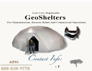 Low Cost, Deployable GeoShelters