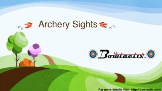 Archery Sights