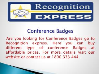 Conference Badges