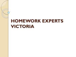 Homework experts Victoria