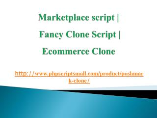 Marketplace script | Fancy Clone Script | Ecommerce Clone
