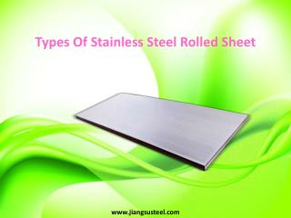 Types Of Stainless Steel Rolled Sheet