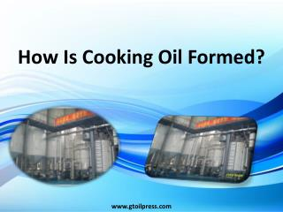 How Is Cooking Oil Formed?