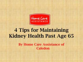 4 tips for maintaining kidney health past age 65