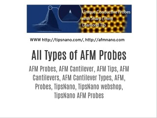 All Types of AFM Probes