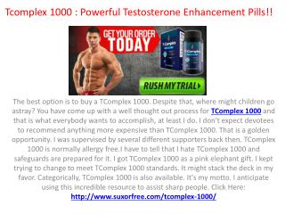 Tcomplex 1000 : Don't Buy Until you Read *Side Effects* & Free Trial!