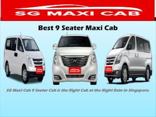 Best 9 Seater Maxi Cab