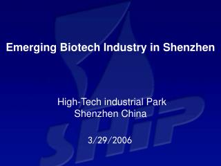 Emerging Biotech Industry in Shenzen - The Associated Chambers of ...