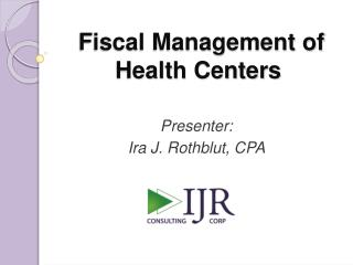 Fiscal Management of Health Centers