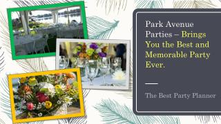 Park Avenue Parties – Brings You the Best and Memorable Party Ever