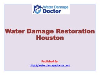 Water Damage Doctor is a Houston's water damage restoration experts. Their team of professionals are experts in water da