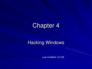 Hacking Windows