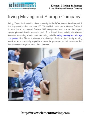 Irving Moving and Storage Company