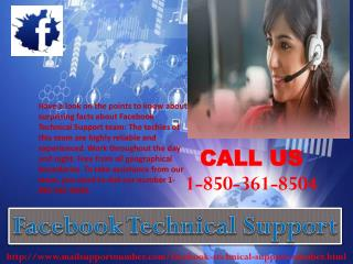 How can I overcome issues via Facebook Technical Support 1-850-361-8504 team?
