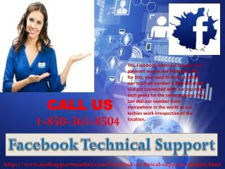 Can I take Facebook Technical Support 1-850-361-8504 service from the professionals at no cost?