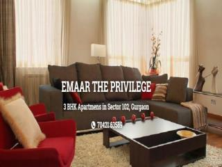 Emaar The Privilege With Modern Facilities