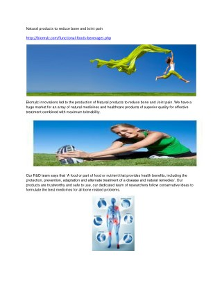 Natural products to reduce bone and Joint pain