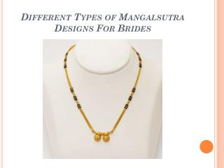 Latest Designs In Mangalsutra For Women