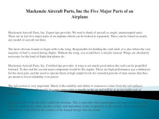 Mackenzie Aircraft Parts, Inc Aircraft Fire Testing Explained