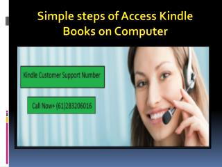 Simple Steps Of Access Kindle Books On Computer.