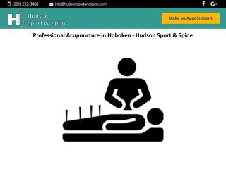 Professional Acupuncture in Hoboken - Hudson Sport & Spine
