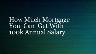 How Much Mortgage You Can Afford In 100 k Income