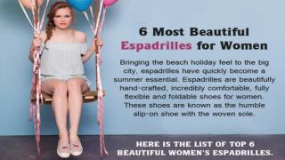 6 Most Beautiful Women's Espadrilles Shoes