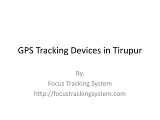GPS Tracking Devices in Tirupur