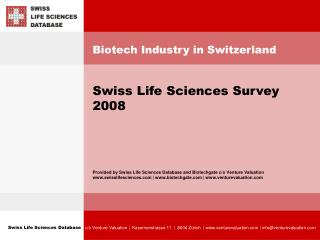 Biotech Industry in Switzerland