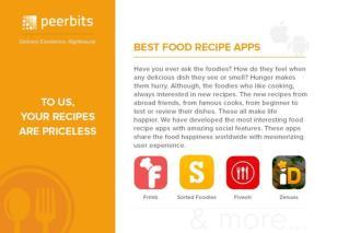Best Food Recipe App : Peerbits