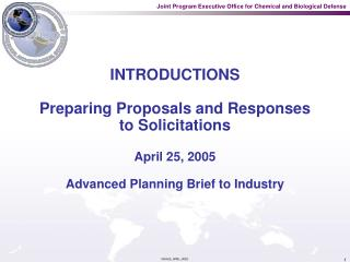 INTRODUCTIONS  Preparing Proposals and Responses to Solicitations