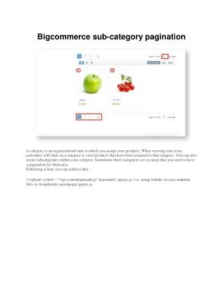 Bigcommerce sub-category pagination