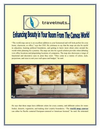 Enhancing Beauty in Your Room From The Canvas World Map