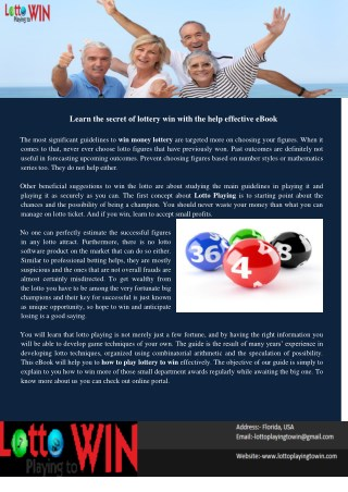 Learn the Secret of Lottery Win With the Help Effective eBook