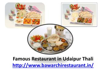 Famous Restaurant in Udaipur Thali